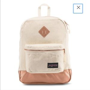 Jansport backpack ivory & rose gold